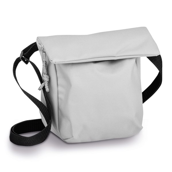 SHANNON. Polyester pouch in 600D - Light Grey