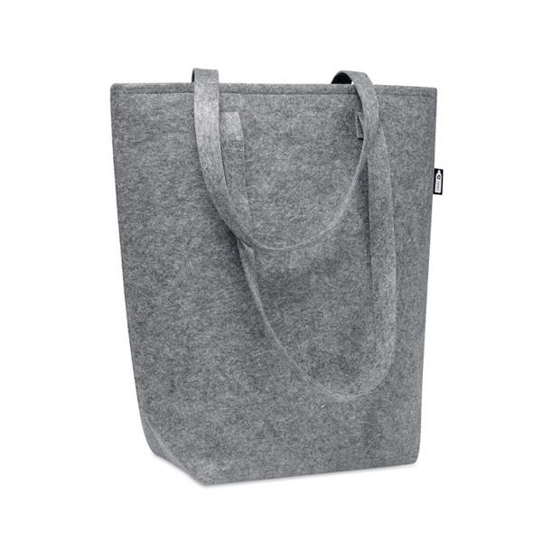 RPET felt shopping bag Taslo - Grey