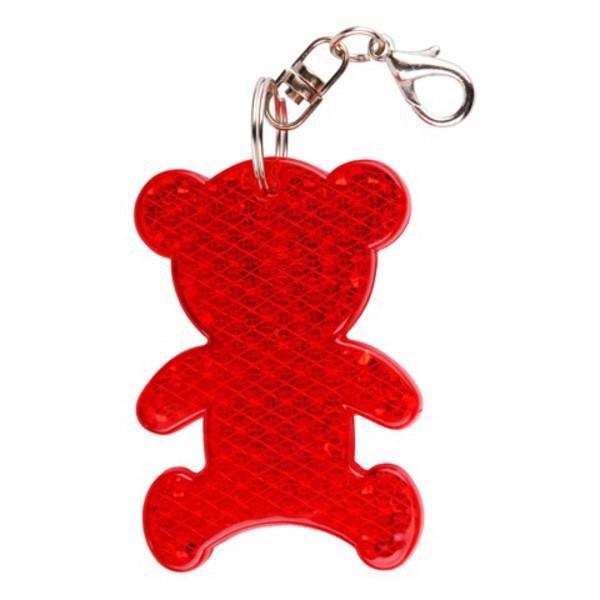 Brelok odblaskowy Teddy - Czerwony