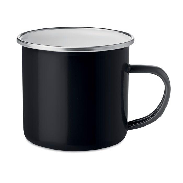 Emaliowany metalowy kubek Plateado - czarny