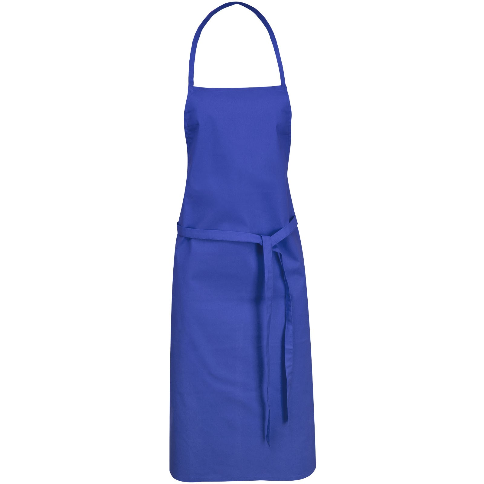 Reeva 100% cotton apron with tie-back closure - Royal blue