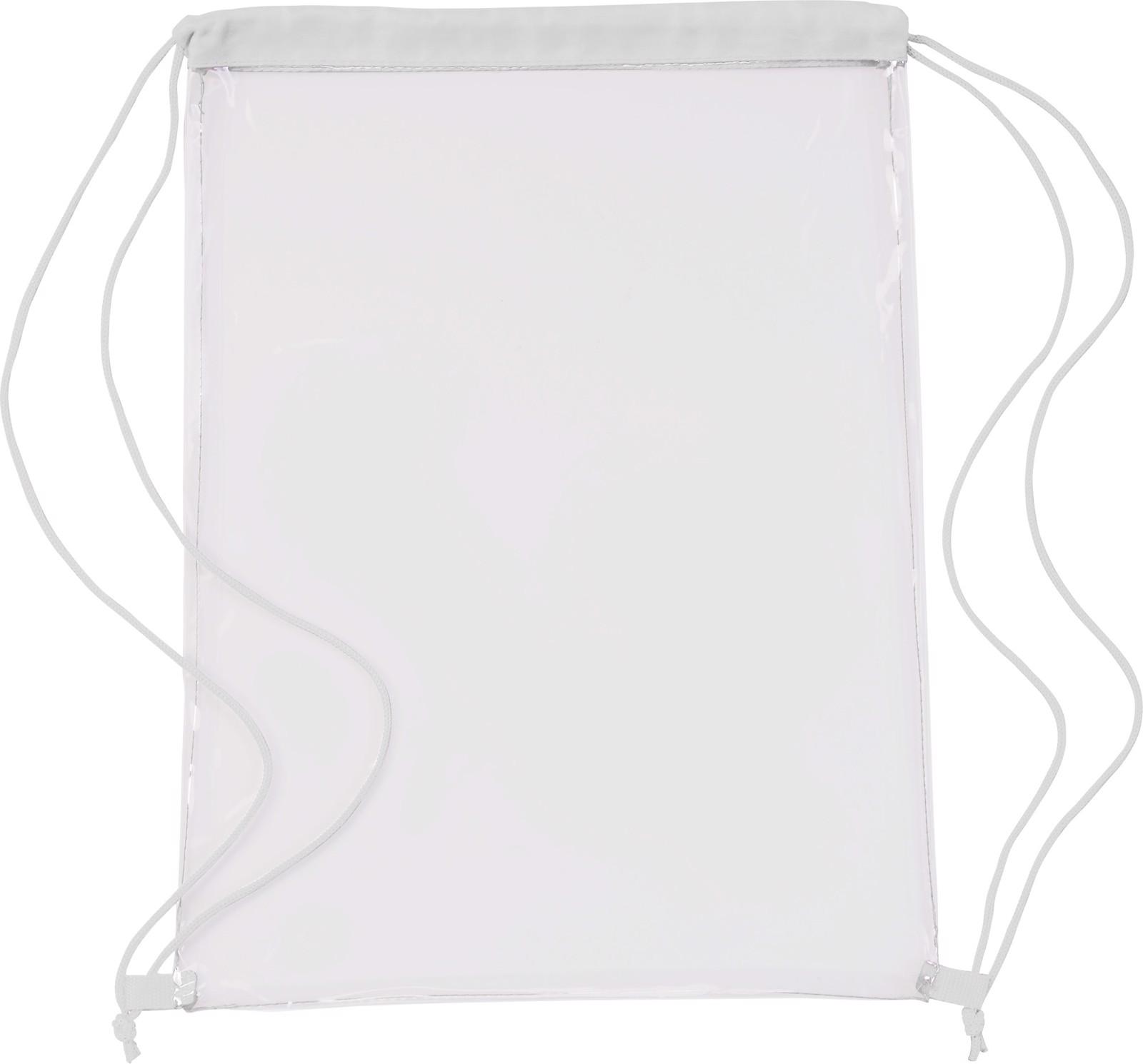 PVC drawstring backpack - White