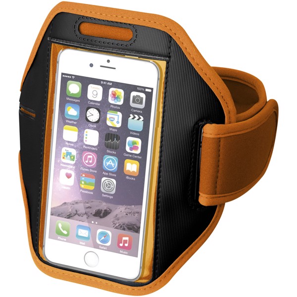 Gofax smartphone bracelet with transparent cover - Orange