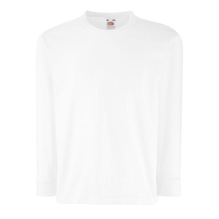 Dětské tričko 165 g/m² Kids Ls Value Weight 61-007-0 - White / L