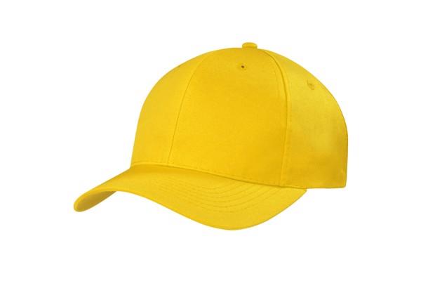 4012 – czapka z daszkiem, 6 paneli - Yellow