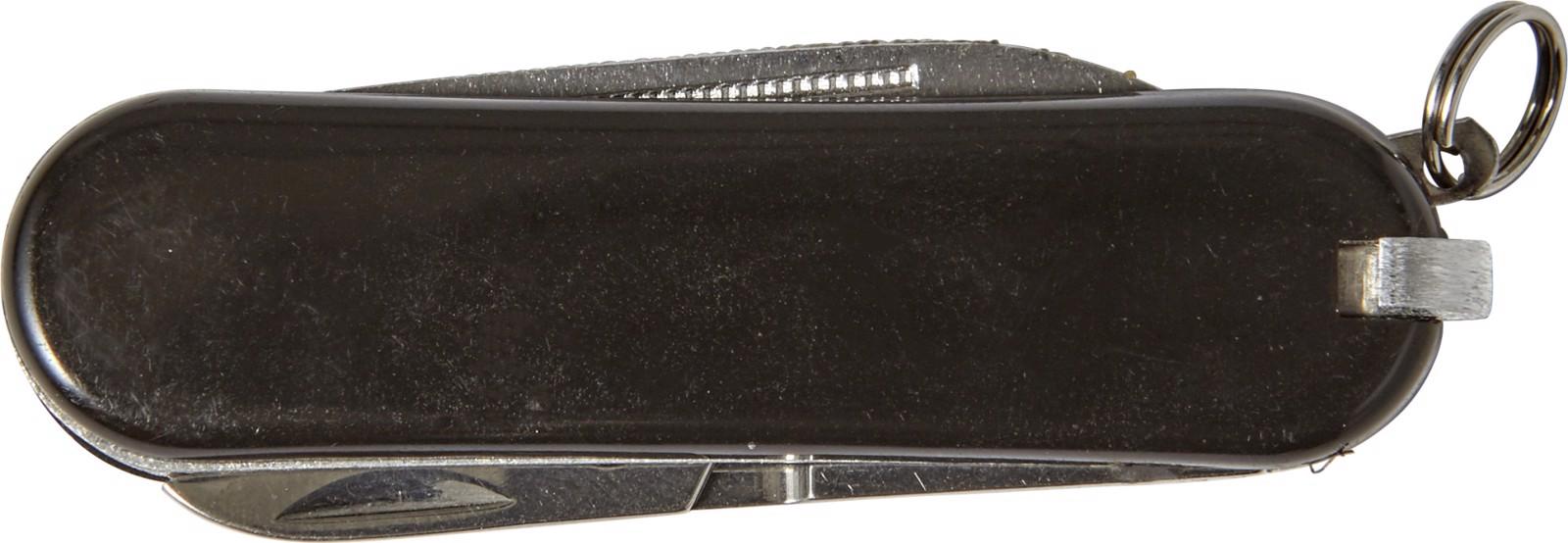 Stainless steel pocket knife - Black