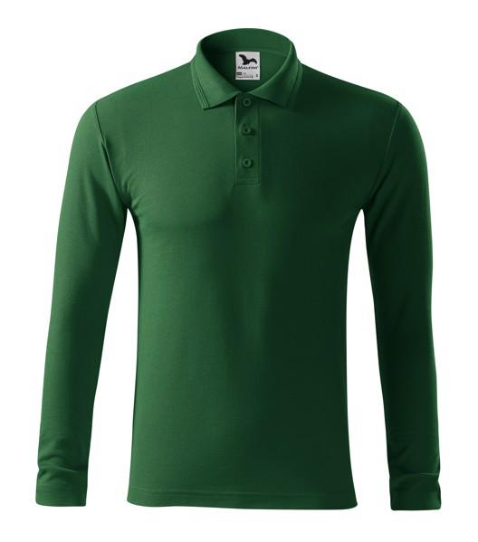 Polo Shirt men's Malfini Pique Polo LS - Bottle Green / S