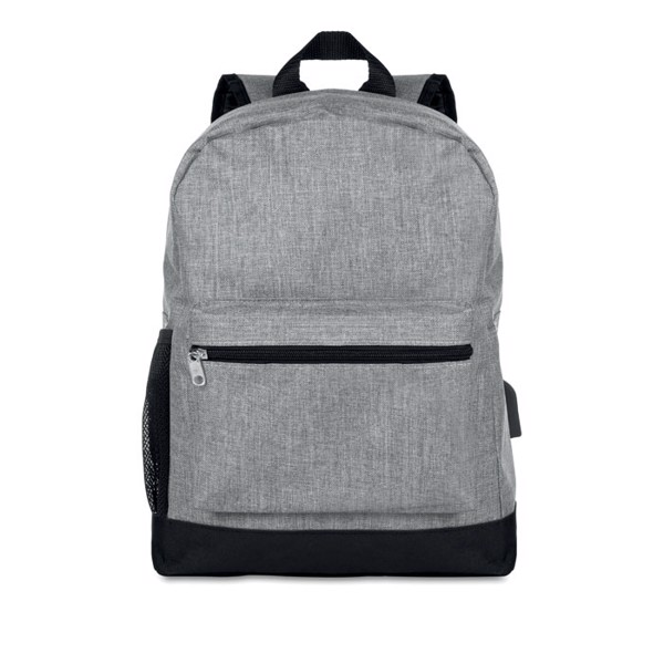 600D 2 tone polyester backpack Bapal Tone - Grey