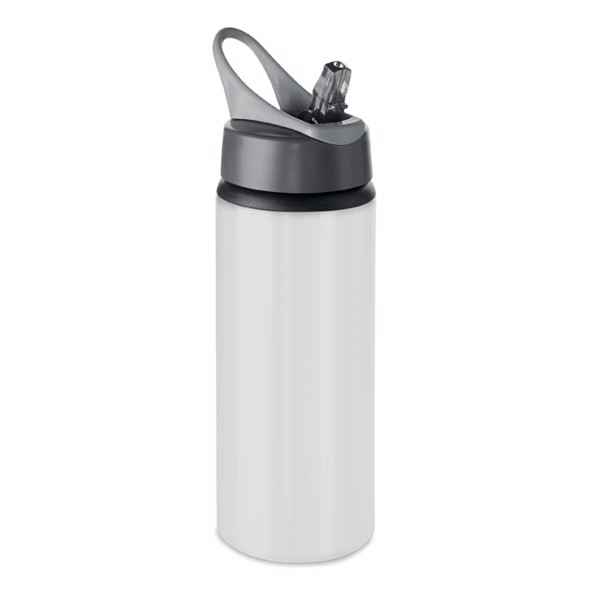 Aluminium bottle 600 ml Atlanta - White
