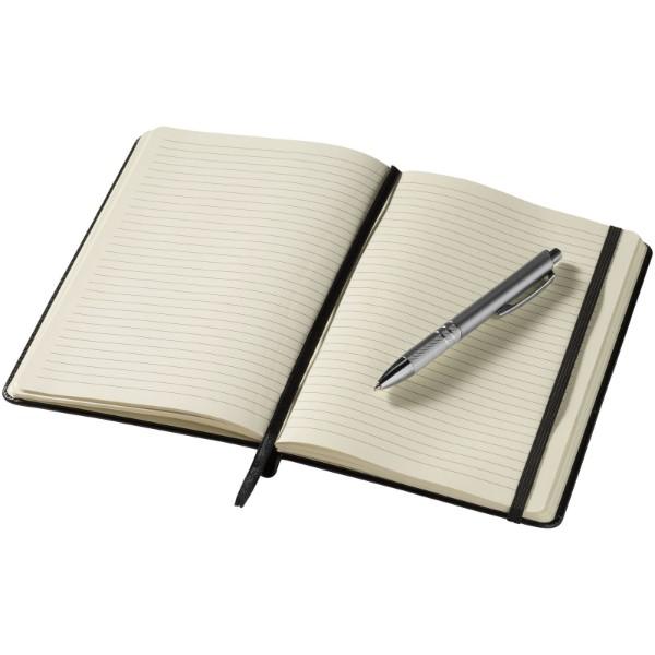 Zápisník s měkkou obálkou A5 a pero Panama - Černá