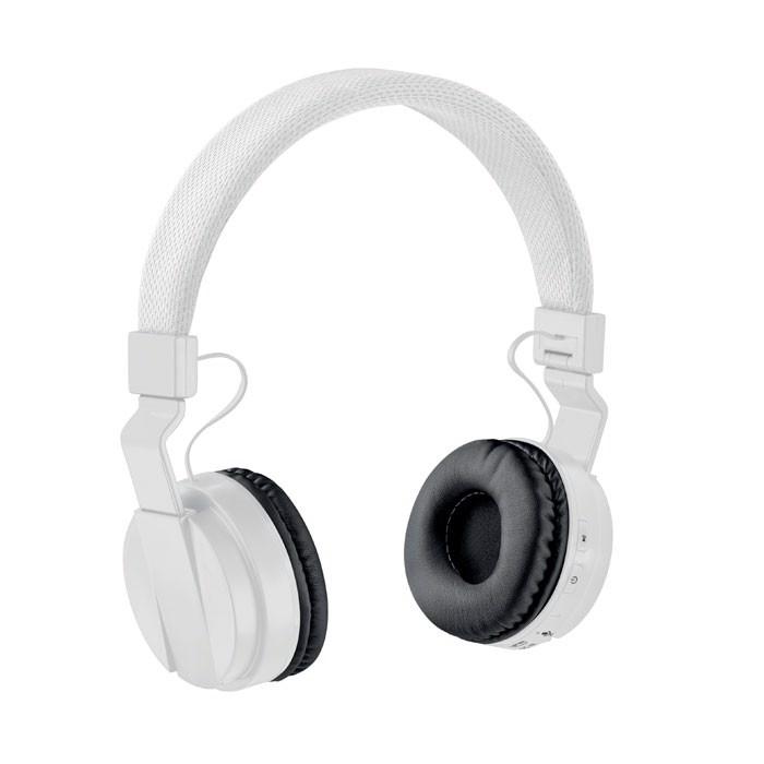 Składane słuchawki bluetooth Pulse - biały