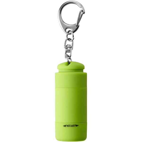 Avior rechargeable LED USB keychain light - Lime green