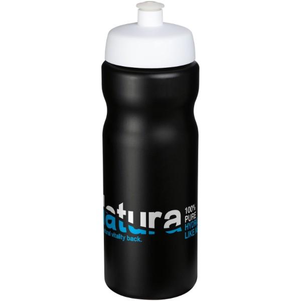 Baseline® Plus 650 ml sportovní lahev - Černá / Bílá