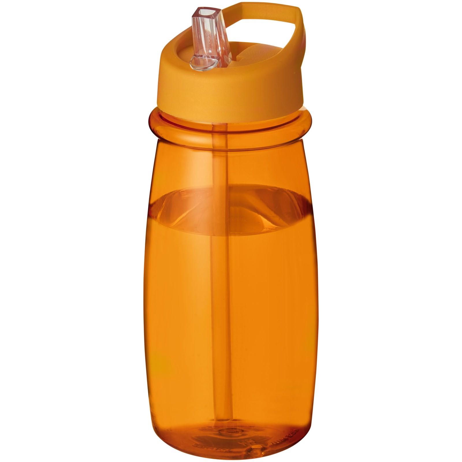 Sportovní láhev svíčkem shubičkou H2O Pulse 600 ml - 0ranžová