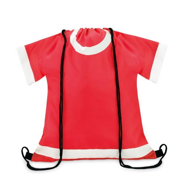 210D polyester drawstring bag T-Draw - Red