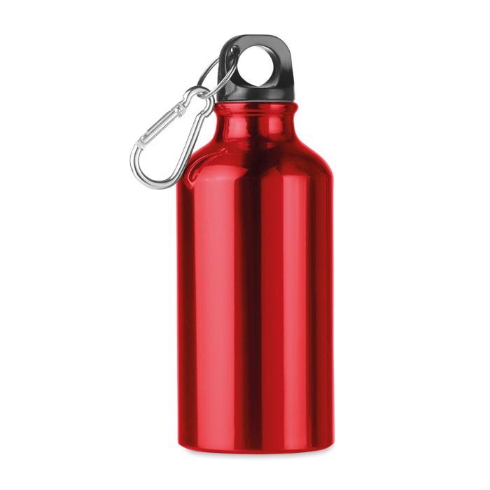 400 ml aluminium bottle Mid Moss - Red