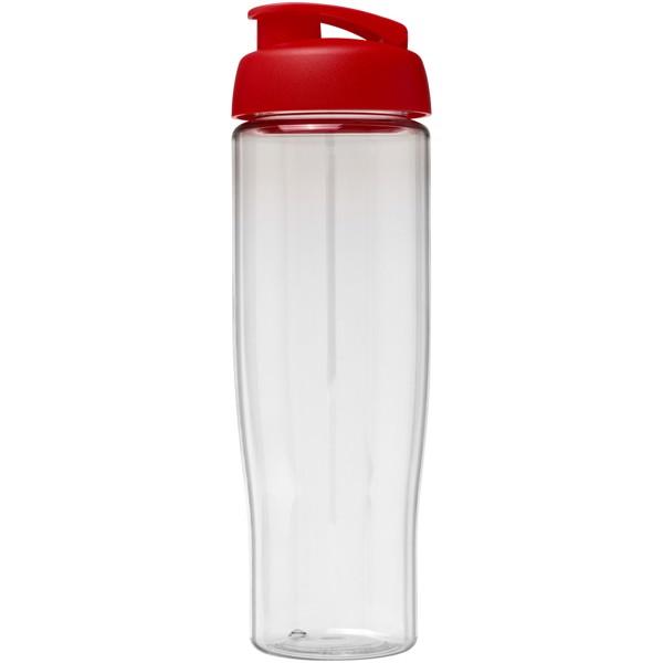 Sportovní láhev s vyklápěcím víčkem H2O Tempo® 700 ml - Průhledná / Červená s efektem námrazy