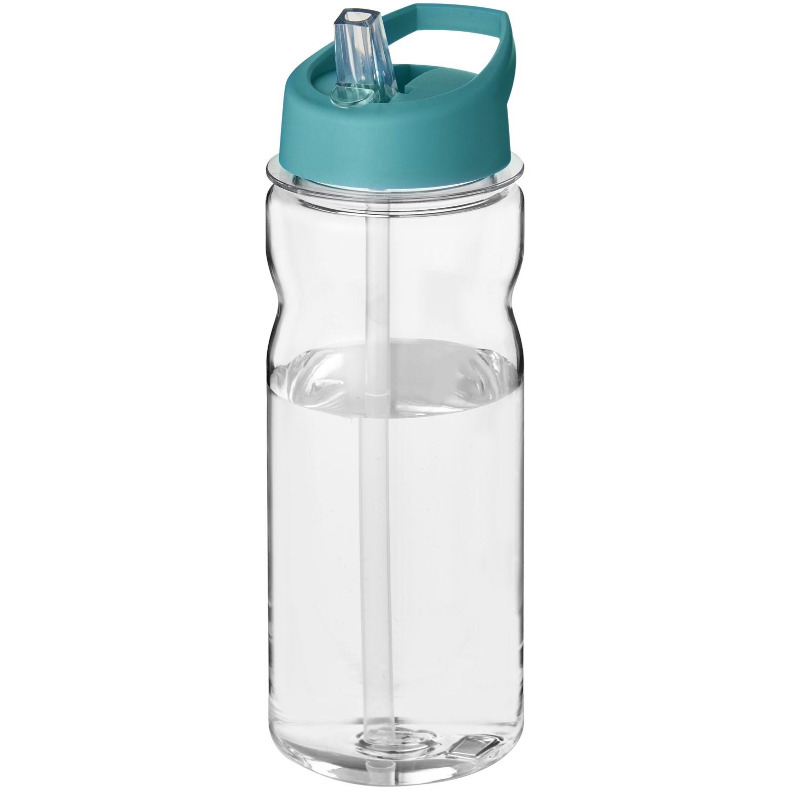 Sportovní láhev s víčkem s hubičkou Base Tritan™ 650 ml - Průhledná / Aqua blue
