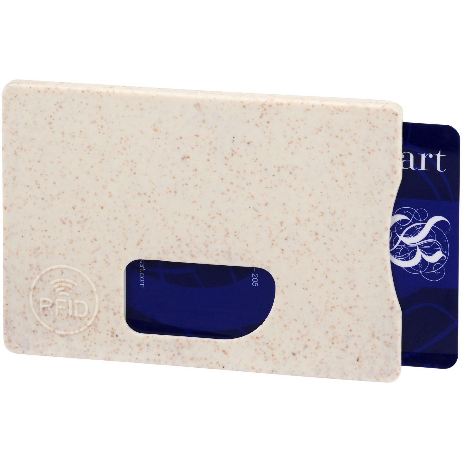 Straw RFID card holder - Beige