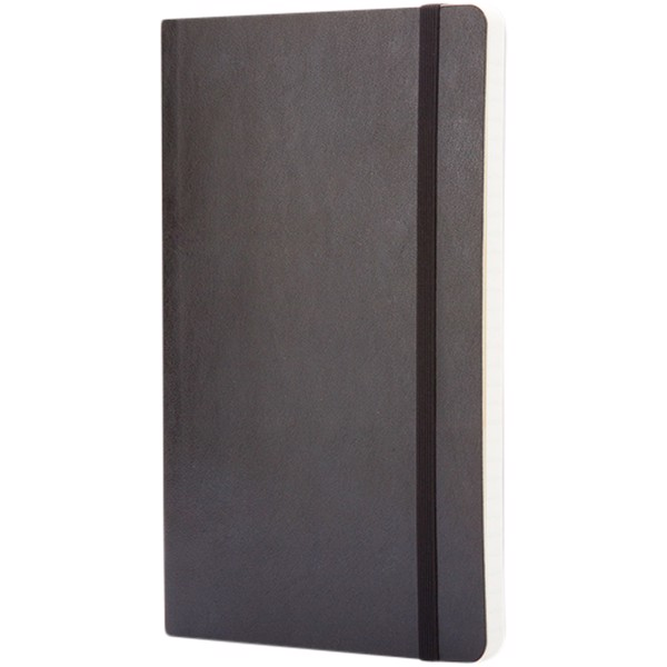 Classic L soft cover notebook - dotted - Solid Black