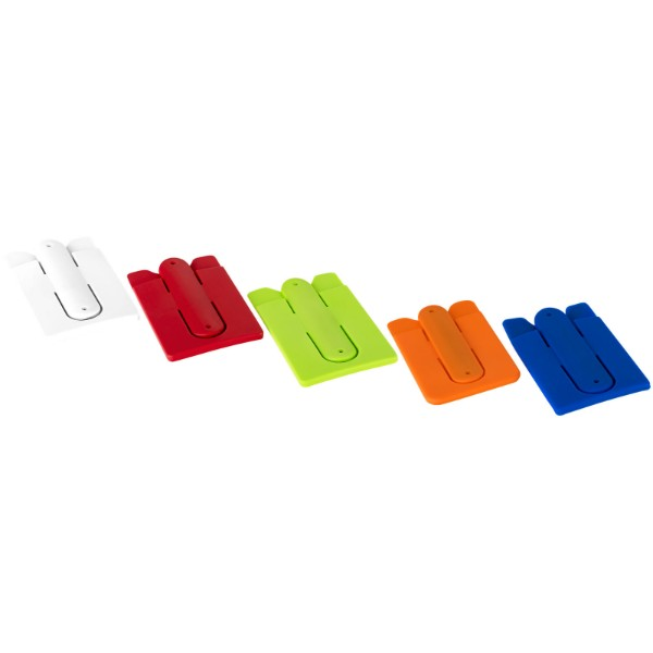 Stue silicone smartphone stand and wallet - White