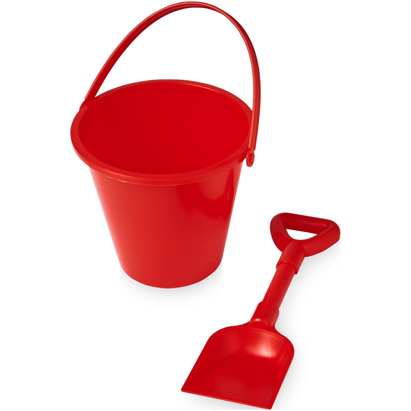 Finn beach bucket and spade - Red