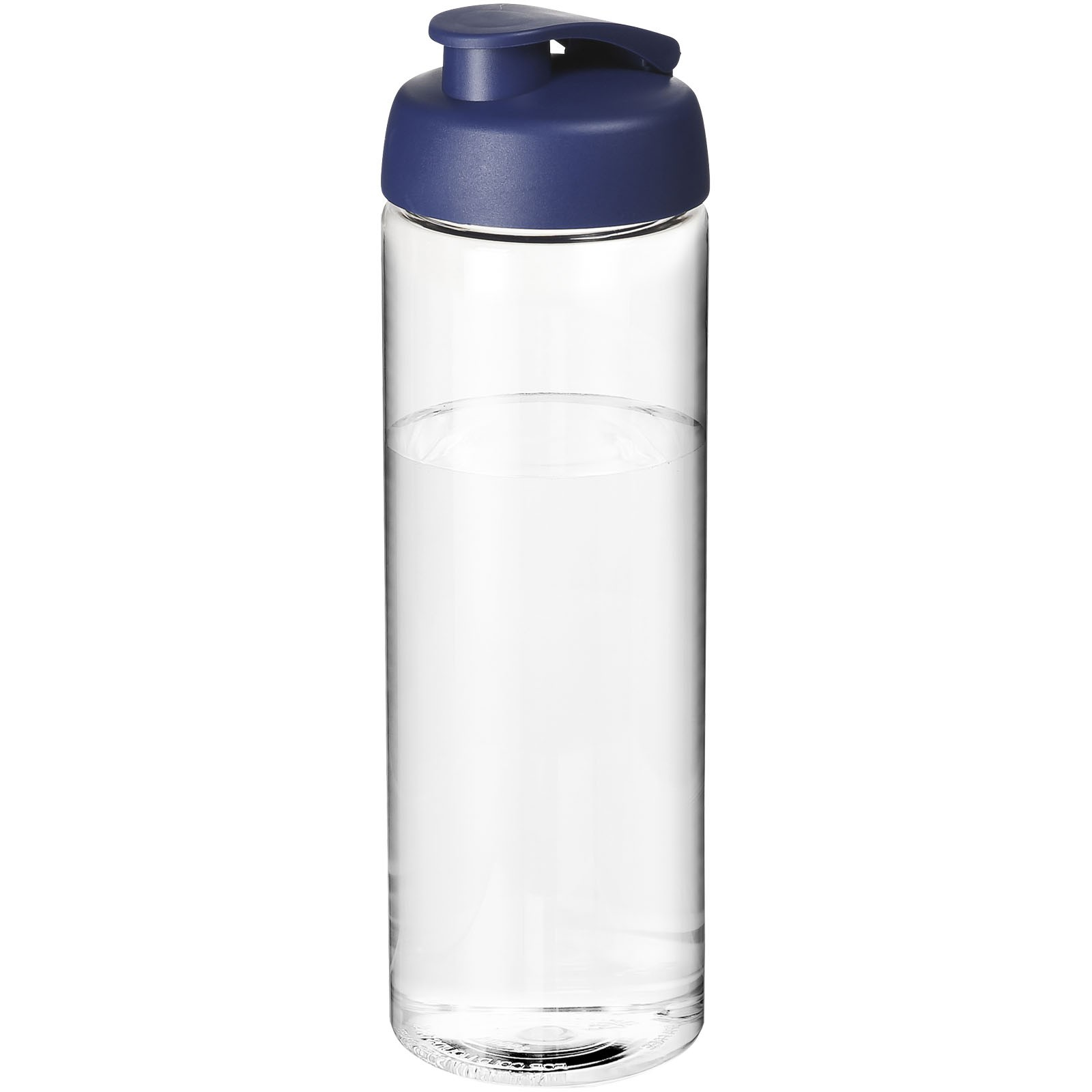 H2O Vibe 850 ml sportovní lahev s vyklápěcím víčkem - Průhledná / Modrá