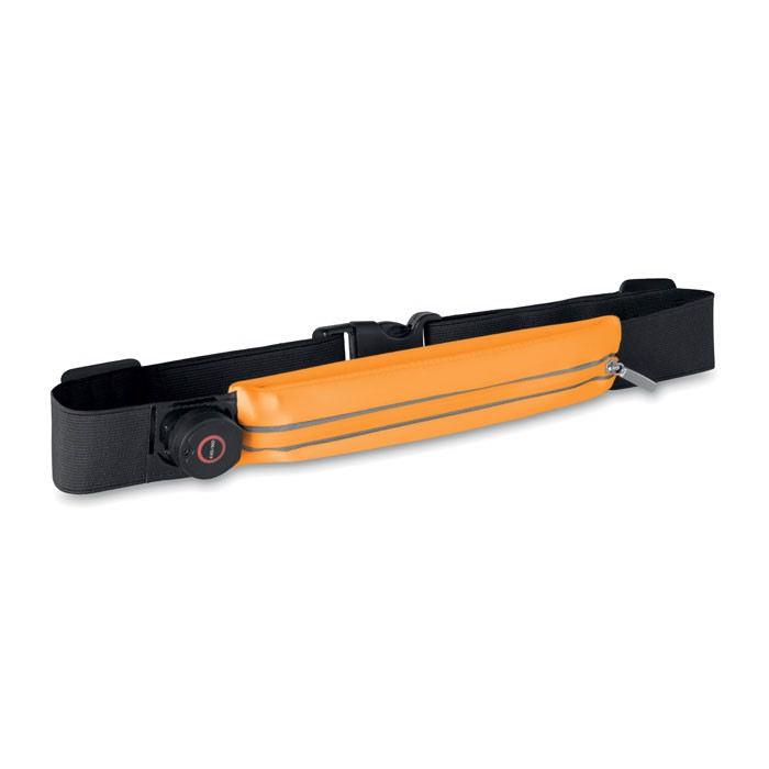 Running waist belt with light Ironrun - Orange