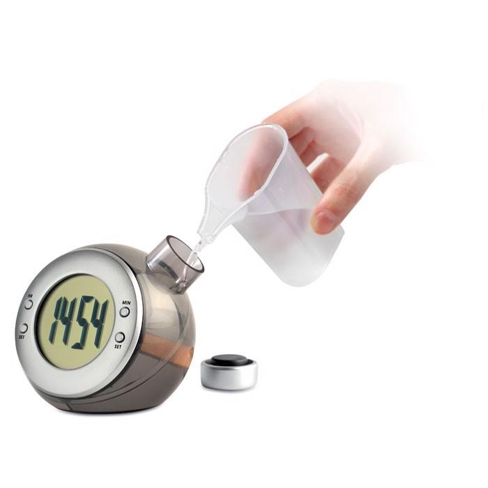 LCD namizna ura, ki deluje na vodno energijo Droppy