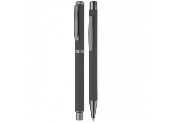Set metal pens New York - Grey