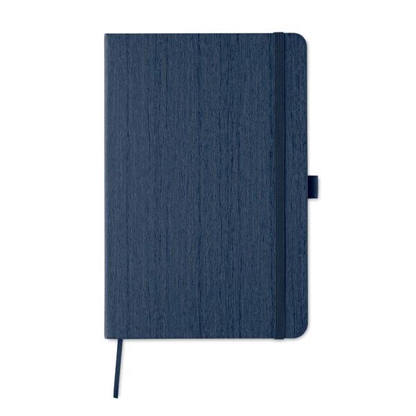 A5 notebook in PU with penloop Woody - Blue