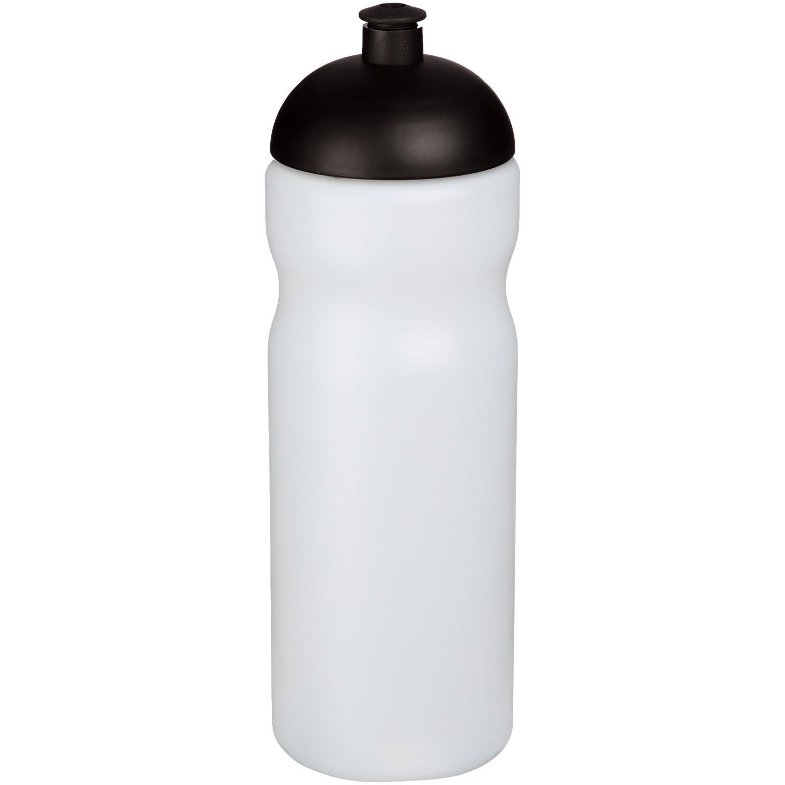 Sportovní láhev s kupolovitým víčkem Baseline® Plus 650 ml - Průhledná / Černá