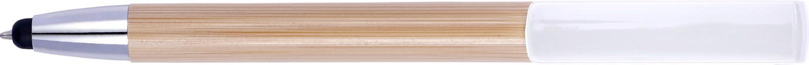 Bamboo 2-in-1 ballpen - White
