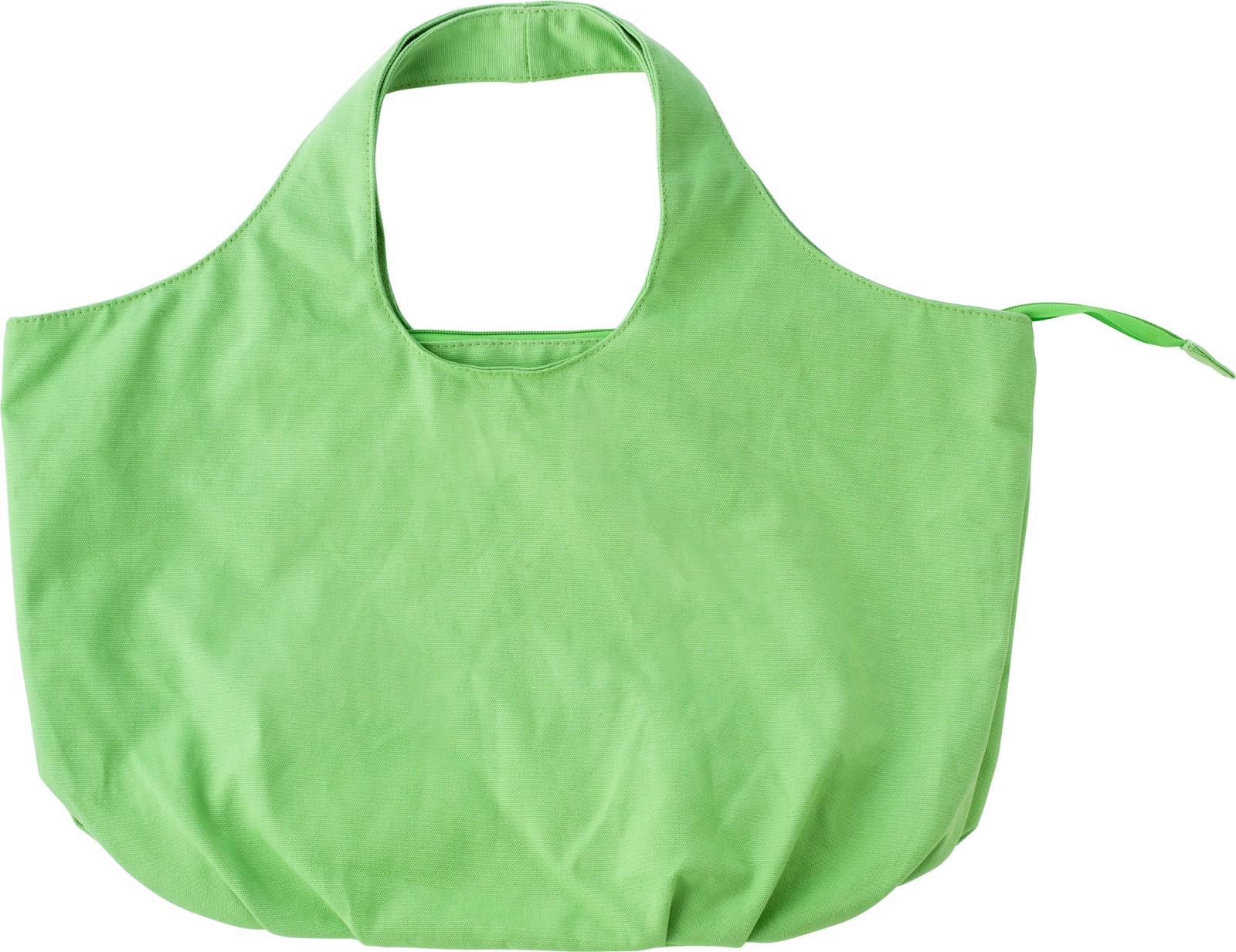 Cotton beach bag, - Light Green