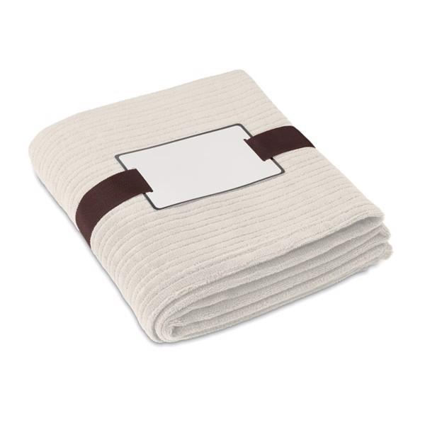 Fleece blanket, 240 gr/m2 Cap Code - Beige