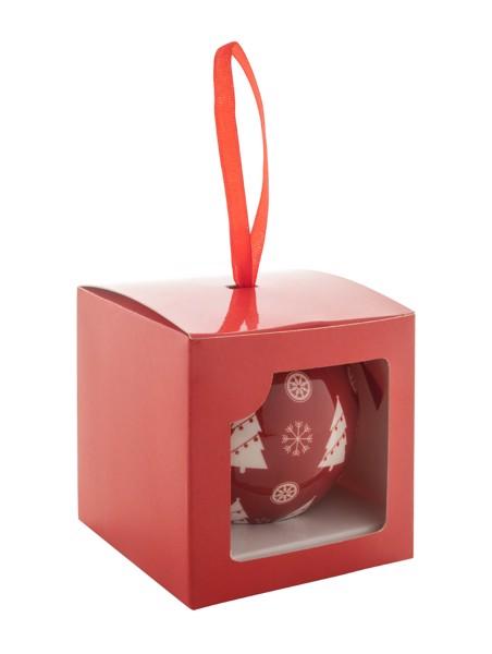 Vánoční Ozdoba Rekvik - Červená / Bílá