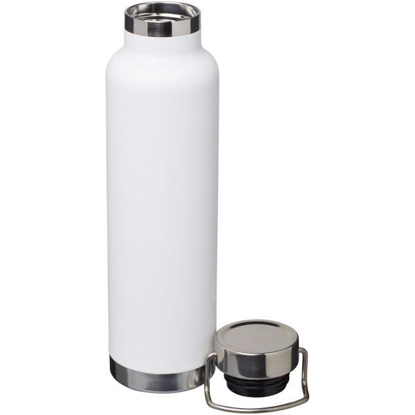 Thor 650 ml copper vacuum insulated sport bottle - White