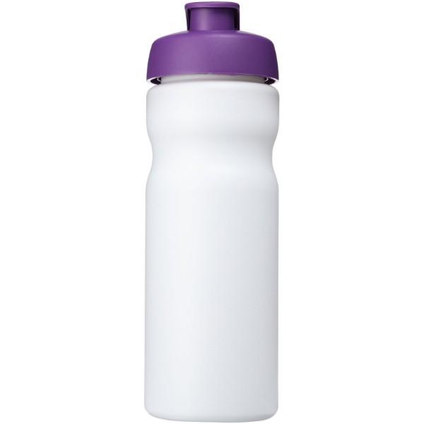 Baseline® Plus 650 ml flip lid sport bottle - White / Purple