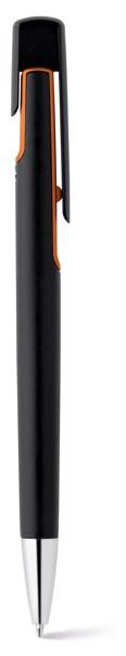 BRIGT. Kuličkové pero s kovovým povrchem - Oranžová