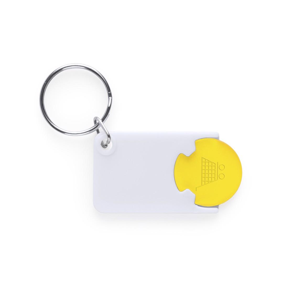 Porta-Chaves Moeda Zabax - Amarelo