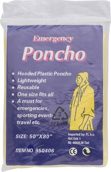 PE poncho - Red