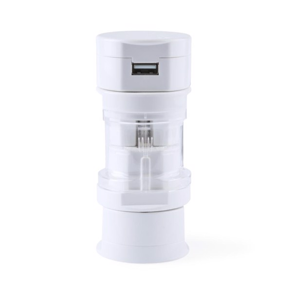Adaptador Enchufes Tribox - Blanco