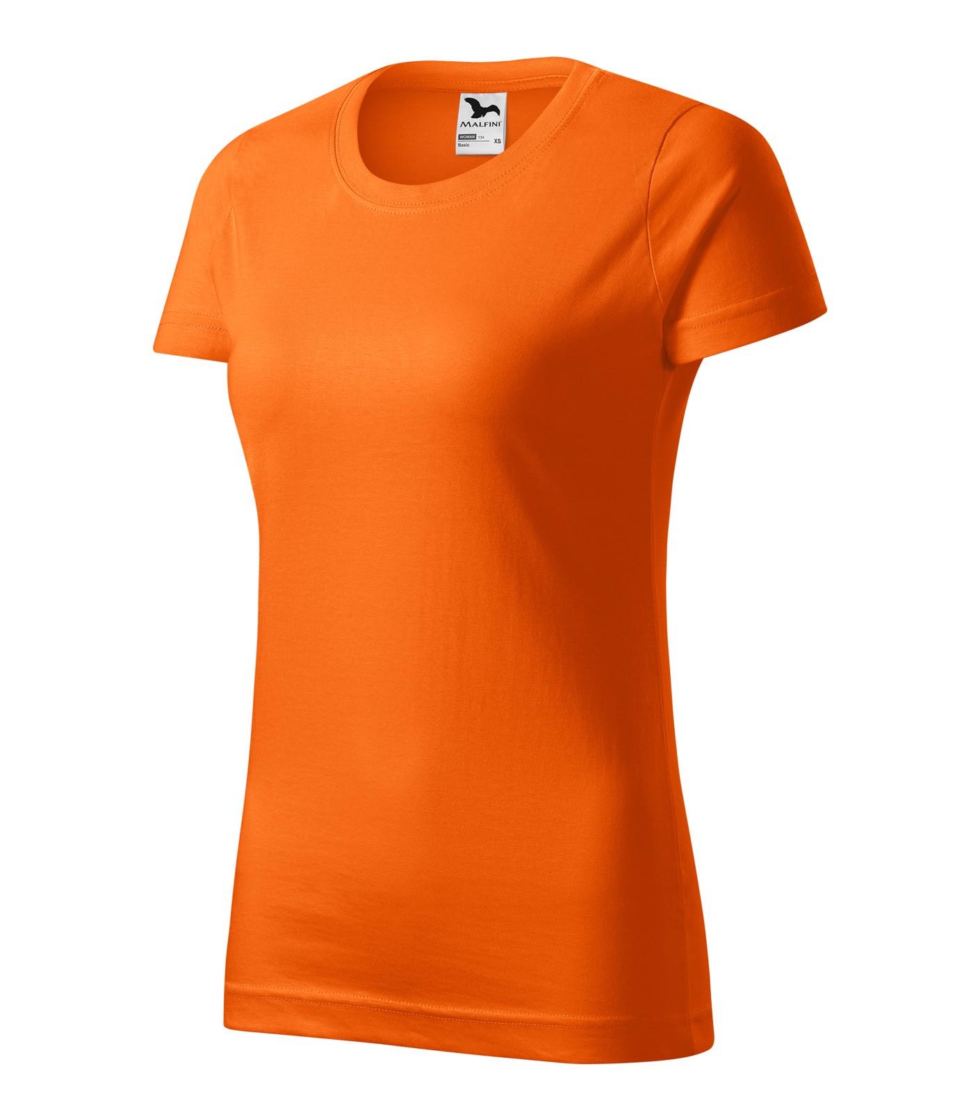 Tričko dámské Malfini Basic - Oranžová / XS