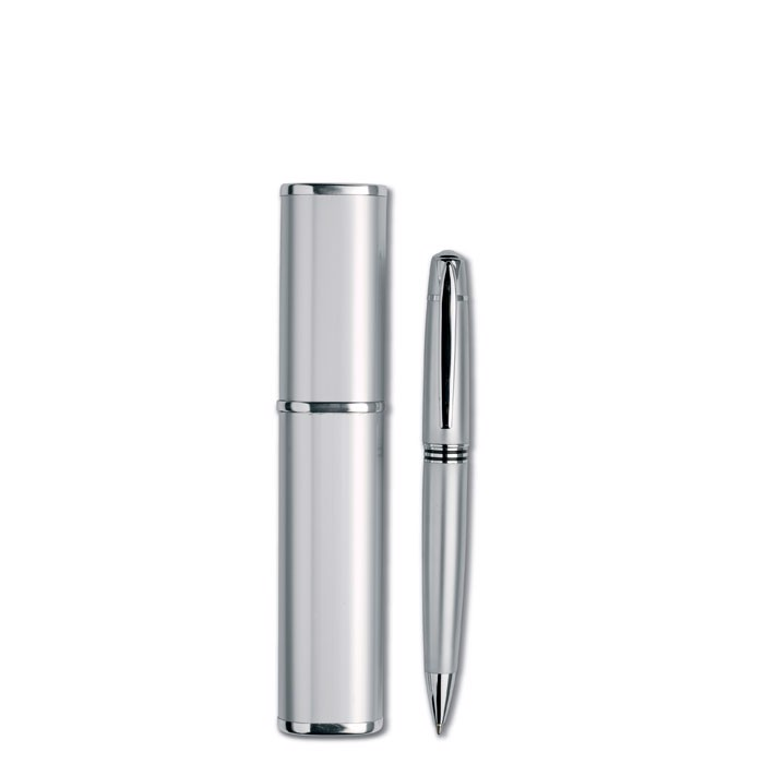 Długopis w aluminiowym pudełku Oregon - srebrny