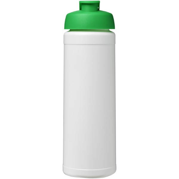 Baseline® Plus 750 ml flip lid sport bottle - White / Green