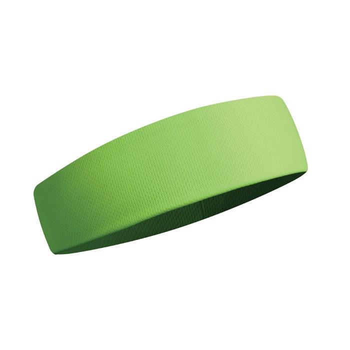 Opaska na głowę Sportcool - fluorescencyjny zielony