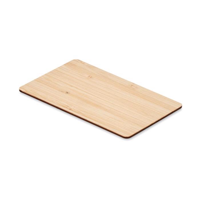 Tarjeta RFID carcasa bambú Custos +