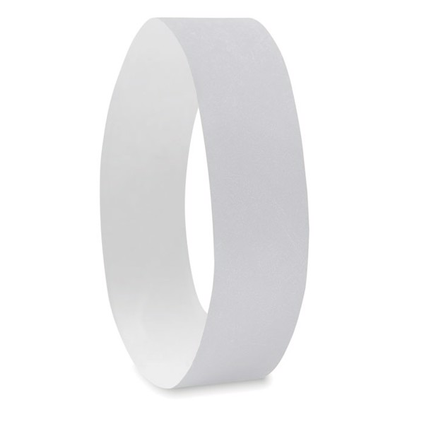 One sheet of 10 wristbands Tyvek - White