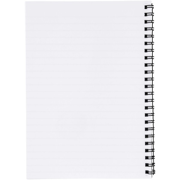 Desk-Mate® A5 notebook synthetic cover - White / Solid black