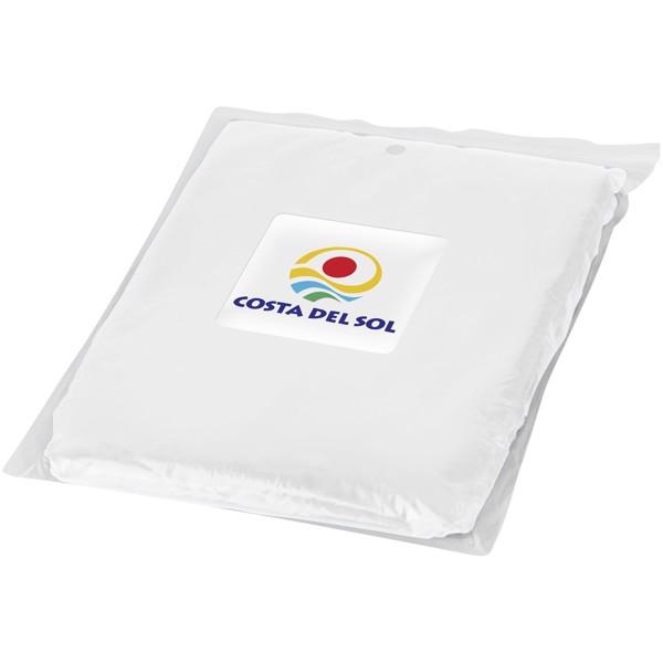 Pláštěnka Ziva na jedno použití v obalu - Bílá